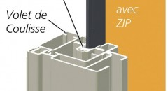 Stores exterieur fenetres Imperial-zip-detail